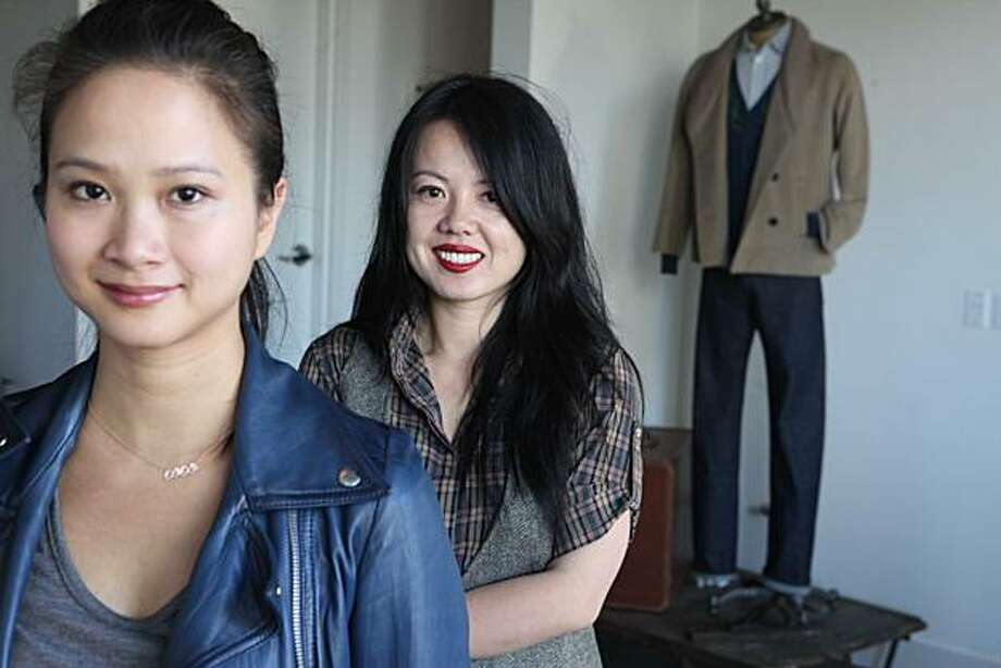 Corina Nurimba and Catherine Chow co-owners of Azalea, Tobi.com and now Welcome Stranger, at their new men's store in San Francisco. Photo: Mike Kepka, The Chronicle