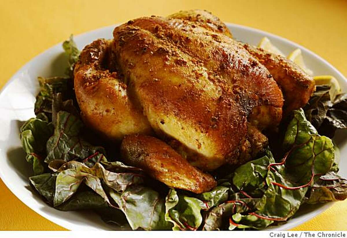 Brazilian-Spiced Oven-Roasted Chicken in San Francisco, Calif., on February 19, 2009. Food styled by Shannon Shafer.