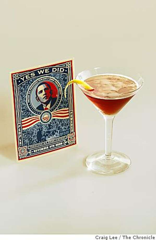 The We Really Love Our New President Cocktail in San Francisco, Calif., on February 19, 2009. Drink styled by Shannon Shafer. Photo: Craig Lee, The Chronicle