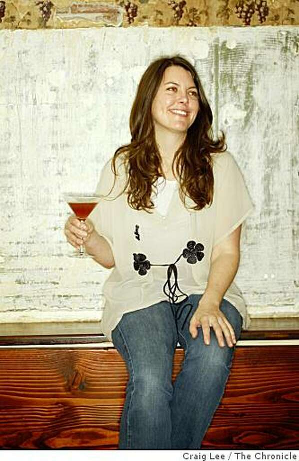 Cate Whalen, bar manager at Pizzaiolo restaurant and her drink she created, the Chinato Speaker in Oakland, Calif., on February 16, 2009. Photo: Craig Lee, The Chronicle