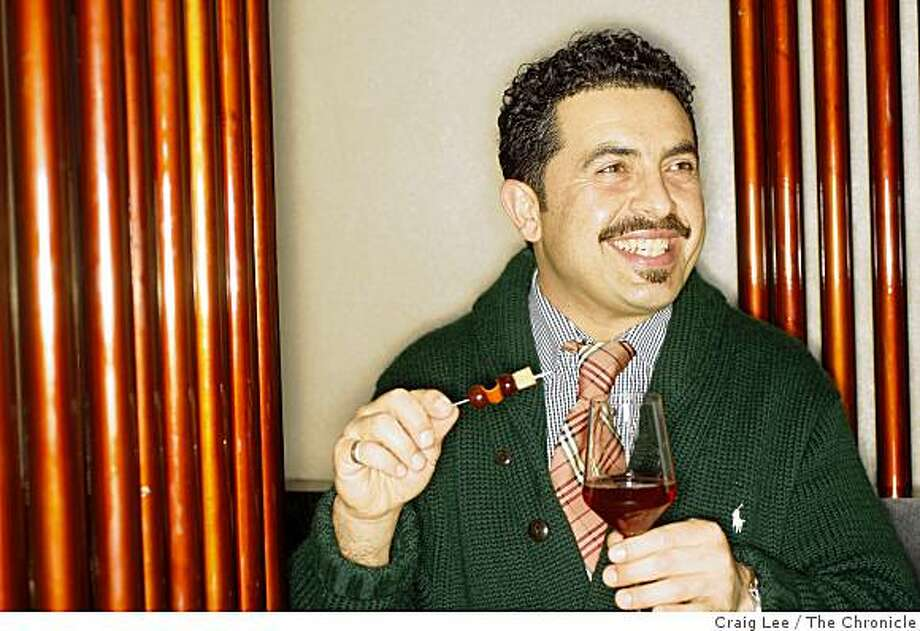Reza Esmaili, consultant and bar manager with his drink, Noble Harvest at Conduit restaurant in San Francisco, Calif., on February 13, 2009. Photo: Craig Lee, The Chronicle