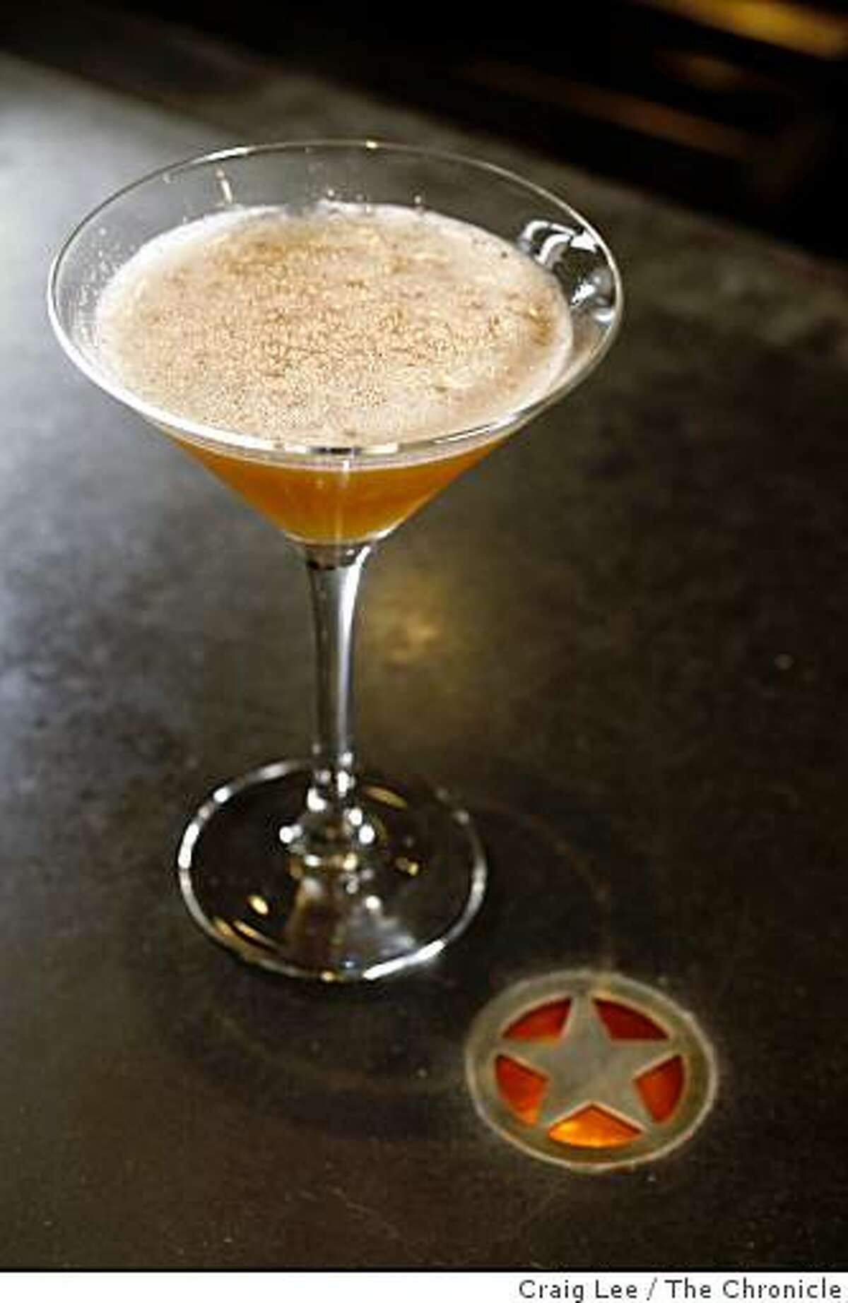 A drink called the Kokomo by Brooke Arthur, bar manager at Range restaurant in San Francisco, Calif., on February 13, 2009.