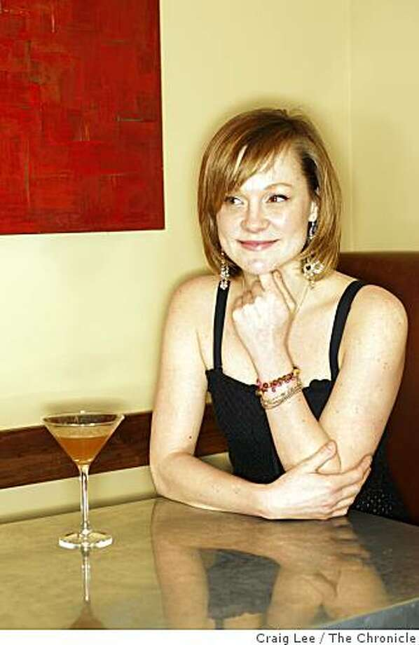 Brooke Arthur, bar manager at Range restaurant with her drink the Kokomo in San Francisco, Calif., on February 13, 2009. Photo: Craig Lee, The Chronicle