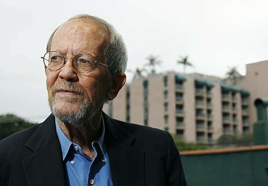 LOS ANGELES - MAY 24: Author Elmore Leonard poses during a portrait session prior to a reading and signing of his latest novel 'Up In Honey's Room' on May 24, 2007 at Book Soup in Los Angeles, California. (Photo by Vince Bucci/Getty Images) Photo: Vince Bucci, Getty Images