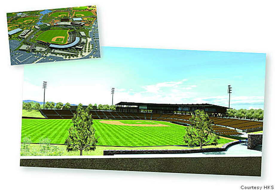 Renderings of Camelback Ranch stadium in Glendale, Arizona. Photo: Courtesy HKS