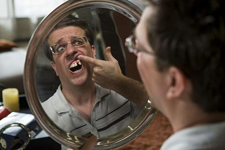 "Stu (ED HELMS) discovers he is missing a tooth in Warner Bros. Pictures' and Legendary Pictures' comedy ""The Hangover,"" a Warner Bros. Pictures release. Photo: Frank Masi, Warner Bros. Pictures"