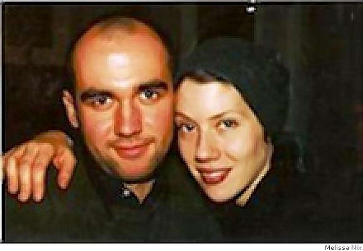 Homicide victim Hughues de la Plaza and with Melissa Nix in an undated photo.