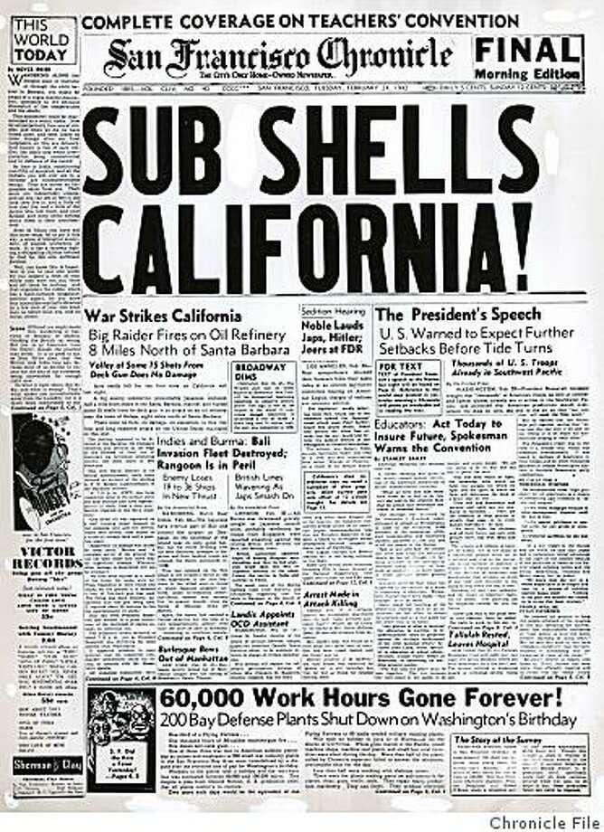 Dailyblast0224.jpg S.F. Chronicle cover from Feb. 24, 1942.N/A/Chronicle File Photo: N/A, Chronicle File