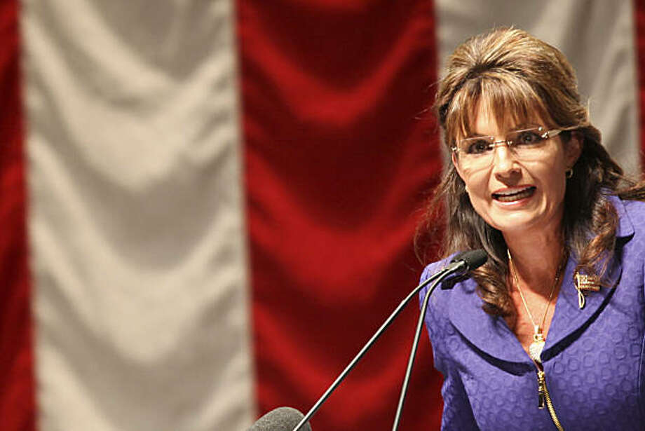 Sarah Palin visits the San Jose Center of Performing Arts to rally Bay Area Tea Party members and  conservatives for the upcoming November elections during an event hosted by The Liberty and Freedom Foundation  on Thursday, October 14, 2010 in San Jose, Calif. Photo: John Sebastian Russo, The Chronicle