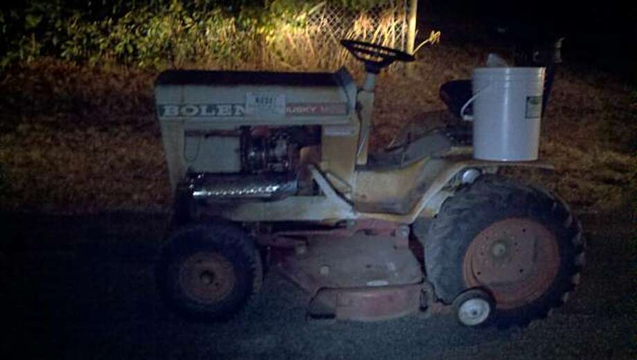 The 1960s-era lawnmower that John Poshepny allegedly drove drunk through t he streets of Kenwood in Sonoma County. Photo: California Highway Patrol