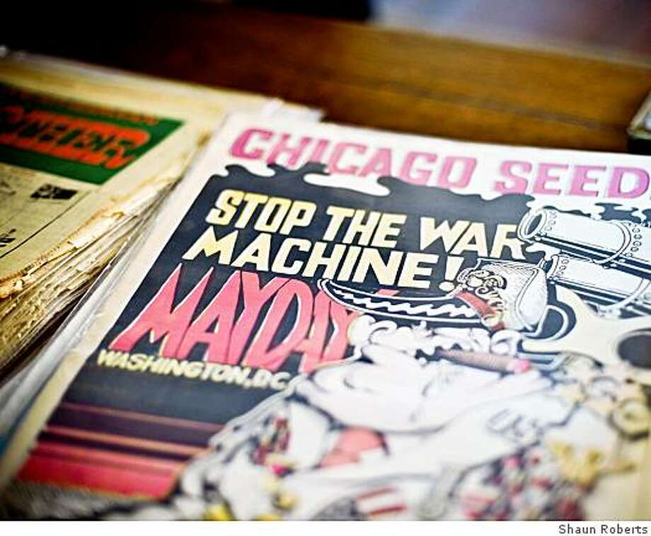 "Radical journals, local and national, of the '60s and '70s appear in ""An Exhibit of Radical Underground Newspapers from the Sixties & Seventies in the U.S."" at Babylon Falling in San Francisco. Photo: Shaun Roberts"