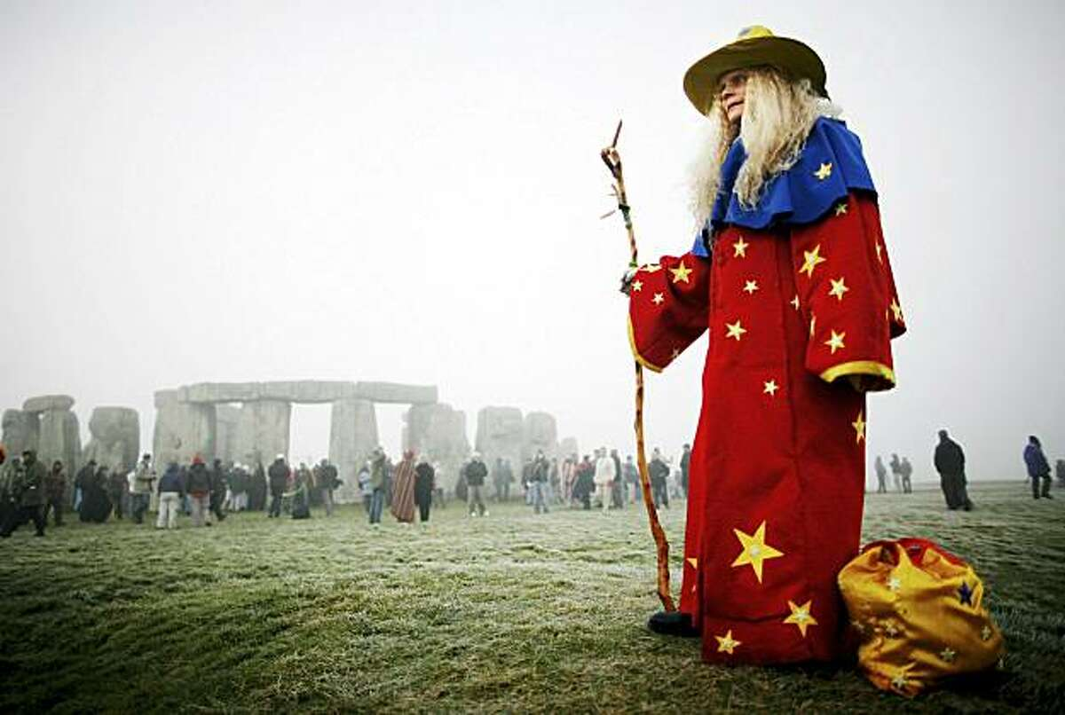 SALISBURY, UNITED KINGDOM - (FILE) A Solstice participant looks on at Stonehenge on December 22, 2006 in Salisbury, England. Druids have, October 3, 2010 been officially recognized as a religion under the charity law for the first time in Britain.
