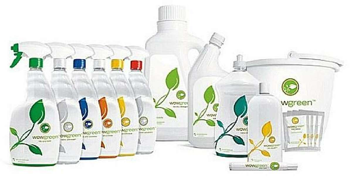 Wowgreen cleaners use enzymes, not chemicals, to clean.