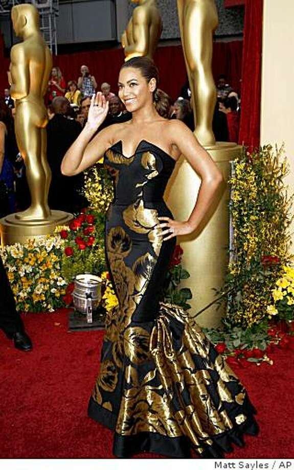 Actress and singer Beyonce Knowles arrives for the 81st Academy Awards Sunday, Feb. 22, 2009, in the Hollywood section of Los Angeles. Photo: Matt Sayles, AP