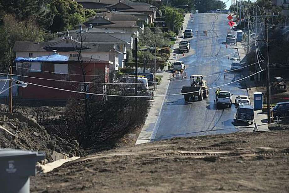A month after a PG&E gas line exploded in a San Bruno neighborhood, cleanup efforts nearly draw to a close on Tuesday Oct. 12, 2010 in San Bruno, Calif. Photo: Mike Kepka, The Chronicle