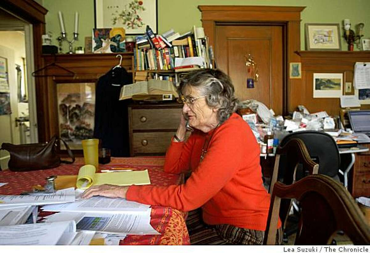 Vera Haile talks on the phone at her home in San Francisco, Calif. on Monday, February 23, 2009.