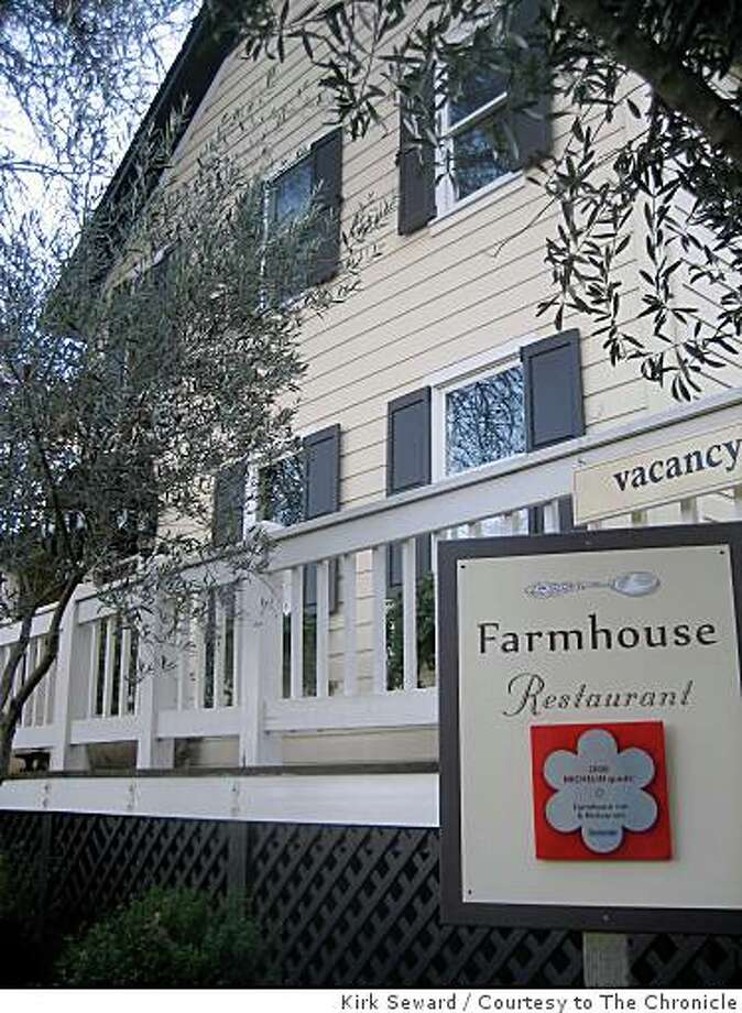 The Farmhouse Inn and Restaurant has a Michelin star and 10 luxurious rooms. Photo: Kirk Seward, Courtesy To The Chronicle