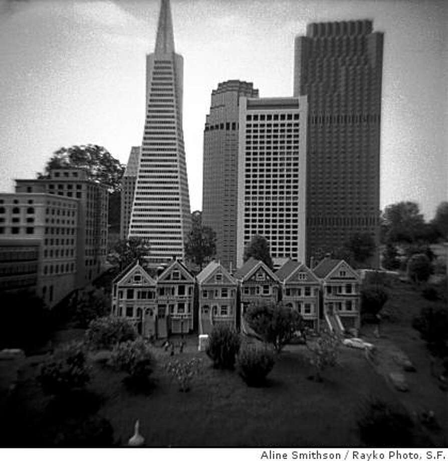 """Lego San Francisco"" (2008) plastic camera photograph by Aline Smithson4"" x 4"" Photo: Aline Smithson, Rayko Photo, S.F."