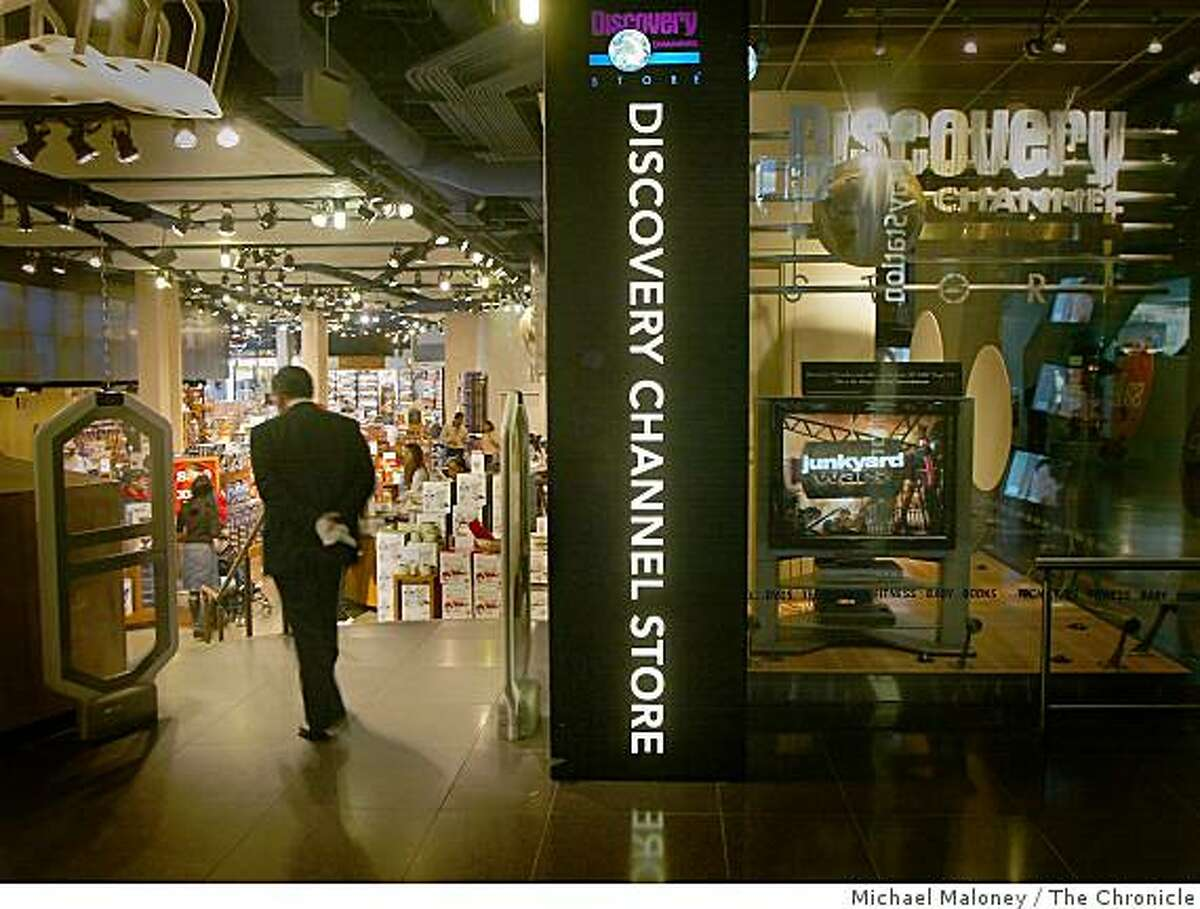 A man walks into the Discovery Channel Store at the Metreon in San Francsico, Calif., on May 15, 2003.