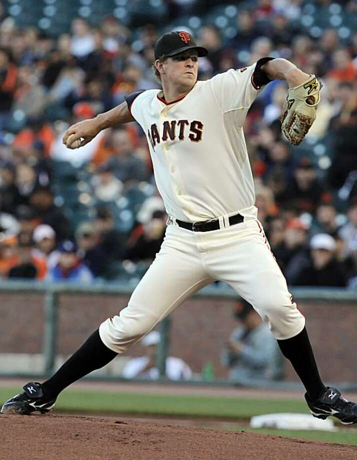 Matt Cain started the game for the Giants and lasted five innings. The San Franciso Giants played the Los Angeles Dodgers at AT&T Park in San Francisco, Calif., on Tuesday, June 29, 2010. Photo: Carlos Avila Gonzalez, The Chronicle