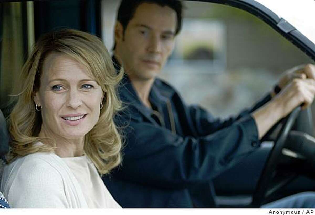 This photo released by the Berlinale film festival shows a scene from the U.S. movie 'The Private Lives Of Pippa Lee' by director Rebecca Miller. The movie will be shown at the 59th International Film Festival 'Berlinale' in Berlin. The Berlin film festival takes place from Feb. 5 to 15, 2009. The picture shows actors Robin Wright Penn, left, and Keanu Reeves. (AP Photo/Berlinale) ** EDITORIAL USE ONLY IN CONNECTION WITH COVERAGE OF THE BERLINALE FILM FESTIVAL. USAGE PERMITTED ONLY UNTIL MARCH 15, 2009 **NO SALES, NO ARCHIVES **