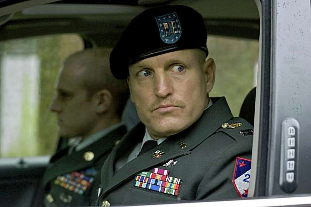 This photo released by the Berlinale film festival shows a scene from the U.S. movie 'The Messenger' by director Oren Moverman. The picture shows actor Woody Harrelson. 'The Messenger' was awarded with the Peace Prize of the Berlinale Film Festival, the jury announced Saturday Feb. 14, 2009. (AP Photo/Berlinale) ** EDITORIAL USE ONLY IN CONNECTION WITH COVERAGE OF THE BERLINALE FILM FESTIVAL. USAGE PERMITTED ONLY UNTIL MARCH 15, 2009 **NO SALES, NO ARCHIVES **