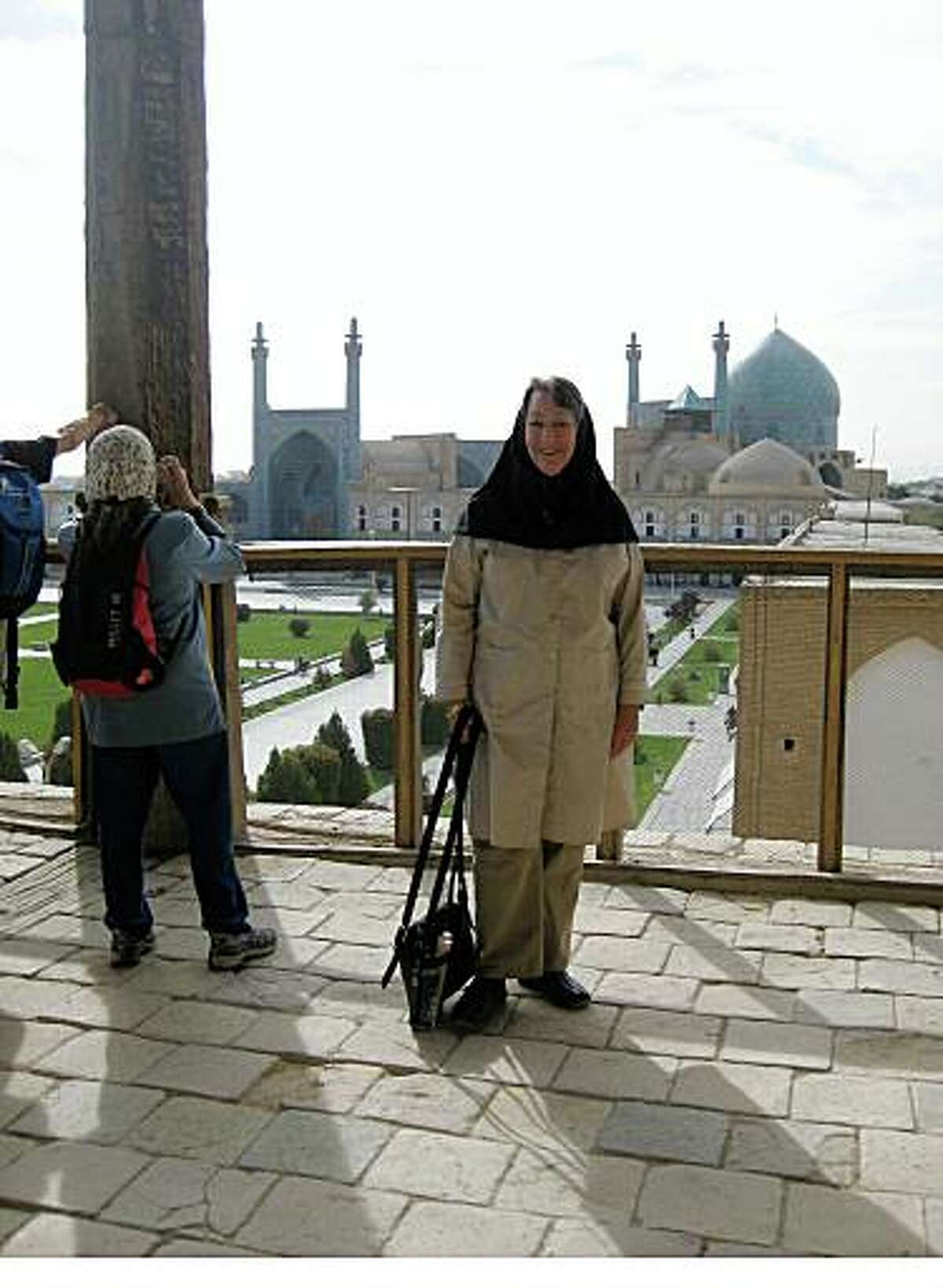 Susan Shawl, Oakland, CAEmail: jazzfan1@sbcglobal.netDaytime phone number: 510-652-3362Just back from: Iran: Tehran, Yazd, Shiraz, Isfahan, Tabriz I went because: I had heard many negative things about Iran via our media and I wanted to see and experience it for myself, plus the art/architecture is so great.Don't miss: Persepolis ? this place is amazing. It was the Persian capital between 500 to 300 BC. And they are still excavating.Don't bother: Worrying about how Americans are treated. The Iranian people are very interested in speaking with Americans, learning about us and no alcohol for 3 weeks is not unbearable.Coolest souvenir: 2 small (old, not new) Persian rugs.Worth a splurge: Abbasi Hotel in Isfahan, at least for a meal of their special soup and the Moshir Garden Hotel in Yazd or any other renovated historic caravansary.I wish I'd packed: Iran is a very modern country and the only thing I could have brought more of was hand cream, because it was very dry in the south.Other comments: I traveled with 9 people on a trip sponsored by Global Exchange. We had opportunities to meet 1 on 1 with locals in the arts and education.Details of attached photo (if sent): On the balcony of Ali-Qapu Palace in Maidan-e-Naghsh-e-Jahan Square in Isfahan, Iran. Shah's Mosque in background.