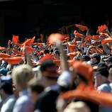 The rally towels were in full effect at AT&T Park on Sunday.