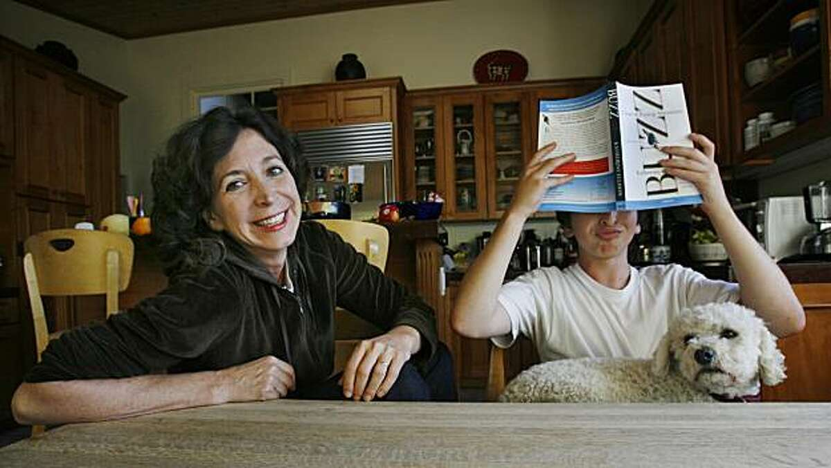"""Pulitzer Prize-winning reporter Katherine Ellison pens a new book """"Buzz: A Year of Paying Attention"""" as a memoir on being diagnosed with Attention-Deficit Hyperactivity Disorder at the same time with her son """"Buzz"""" (right), who was 12-years-old at the time. In San Anselmo, Calif. on Monday, Sept. 13, 2010."""