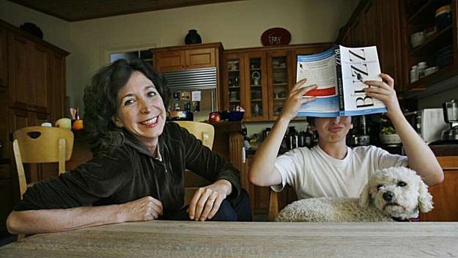 "Pulitzer Prize-winning reporter Katherine Ellison pens a new book ""Buzz: A Year of Paying Attention"" as a memoir on being diagnosed with Attention-Deficit Hyperactivity Disorder at the same time with her son ""Buzz"" (right), who was 12-years-old at the time. In San Anselmo, Calif. on Monday, Sept. 13, 2010. Photo: Kirsten Aguilar, The Chronicle"