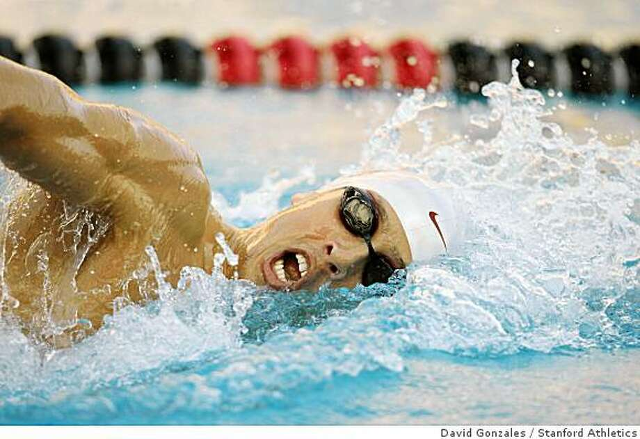 Jason Dunford during Stanford's win over California in the Big Meet at the Avery Aquatic Center in Stanford, CA. Nov. 7, 20077 November 2007: Jason Dunford during Stanford's win over California in the Big Meet at the Avery Aquatic Center in Stanford, CA. Photo: David Gonzales, Stanford Athletics