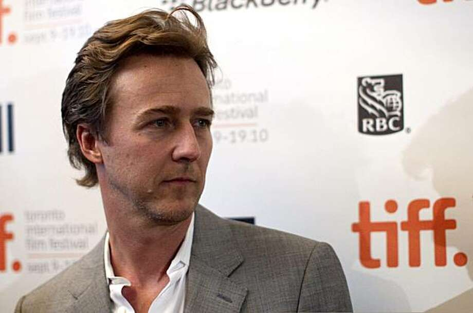 Ed Norton arrives for the premiere of his new film Stone at the Toronto International Film Festival in Toronto on Friday September 10, 2010. Photo: Chris Young, AP