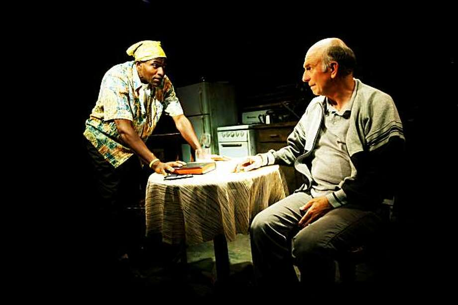 "Carl Lumbly (left) and Charles Dean as the strangers who get lost in a long discussion in Cormac McCarthy's ""The Sunset Limited"" at SF Playhouse Photo: Jessica Palopoli"