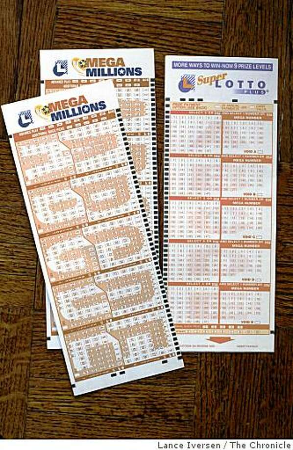 California will introduce the new Mega Lotto game tomorrow wed 22nd. The new forms are compared to the Super Lotto game. By Lance Iversen/San Francisco Chronicle Photo: Lance Iversen, The Chronicle
