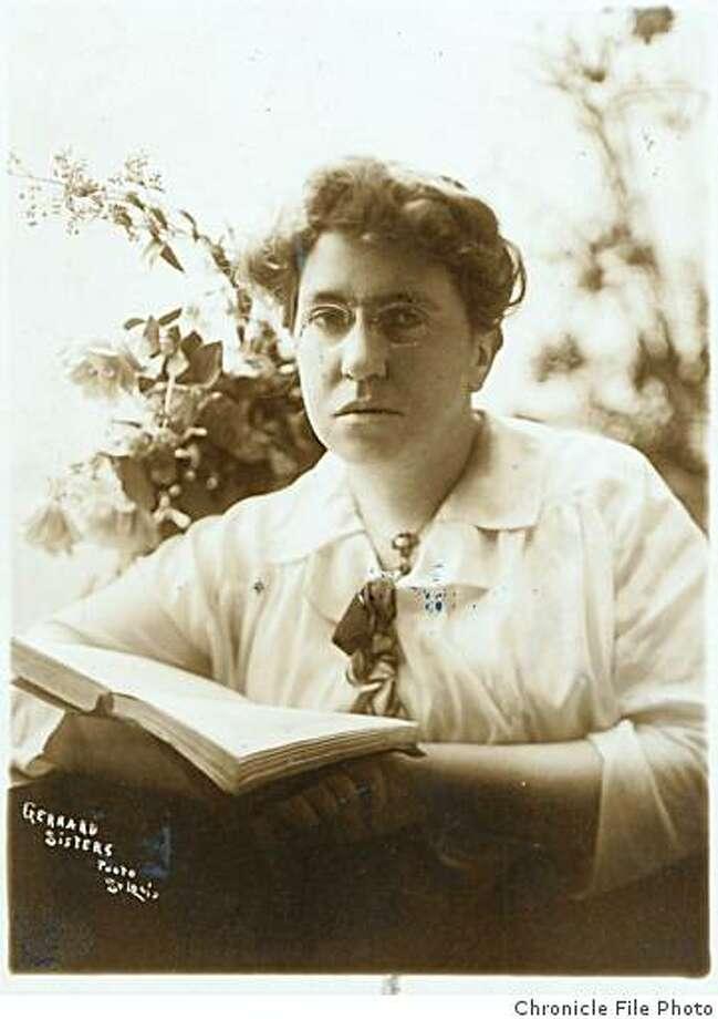 Anarchist Emma Goldman. Photo: Chronicle File Photo