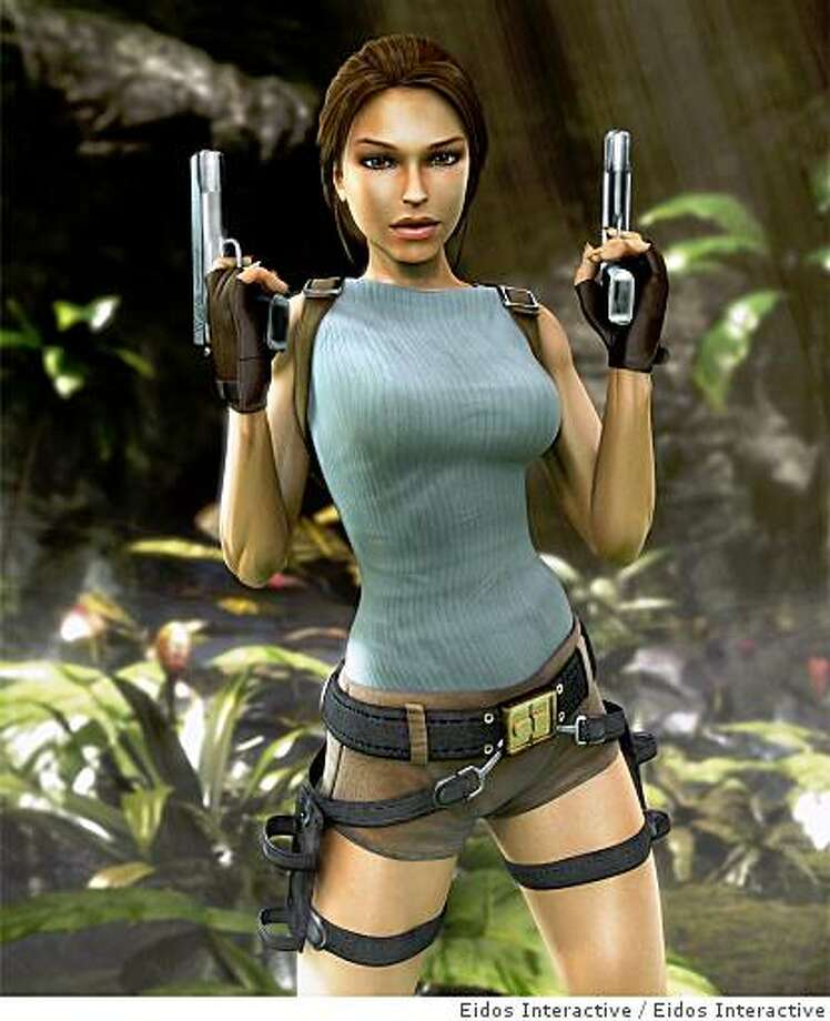 Lara Croft of the Tomb Raider series is low on our list, because she's been promoted as too much of a sex object. Photo: Eidos Interactive