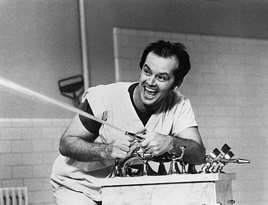 "**FILE** Actor Jack Nicholson shown in a Feb. 1976 file photo in a scene from  ""One Flew Over The Cuckoo's Nest"". Oregon State Hospital, the mental institution where the 1975 movie ""One Flew Over the Cuckoo's Nest"" was filmed, is making way for a new complex. Most of the dilapidated, 125-year-old main building will be torn down and replaced starting this fall.   (AP Photo) Photo: AP"