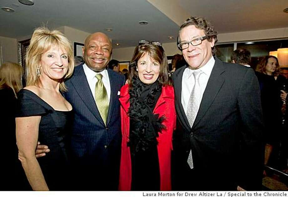 Alzheimer's Research for a Cure foundation hosted a reception for their benefactors at the St. Regis Hotel in San Francisco.Sandy mandel, Willie Brown, Jackie Speier, Scott Harkonen Photo: Laura Morton For Drew Altizer La, Special To The Chronicle