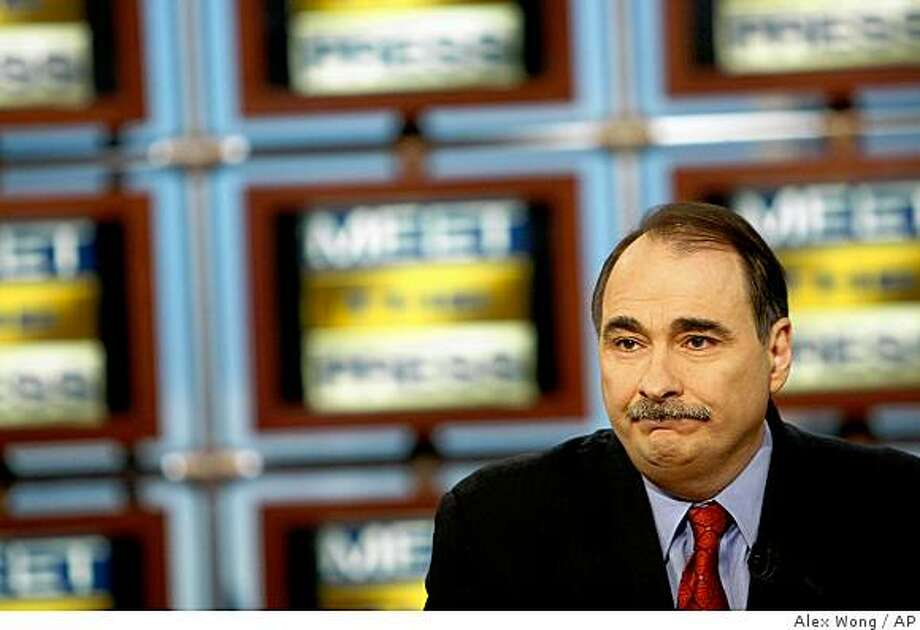 "In this photograph provided by ""Meet the Press,"" White House adviser David Axelrod appears on ""Meet the Press'"" Sunday, Feb. 15, 2009, at the NBC studios in Washington. (AP Photo/Meet The Press, Alex Wong)  ** NO SALES, NO ARCHIVE, MUST USE BEFORE FEB. 22, 2009, MUST CREDIT ""MEET THE PRESS"" ** Photo: Alex Wong, AP"
