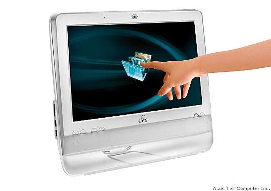 In this photo illustration provided by AsusTek Computer Inc., a simulated demonstration of the Eee Top is shown. (AP Photo/AsusTek Computer Inc.) ** NO SALES ** Photo: Asus Tek Computer Inc.