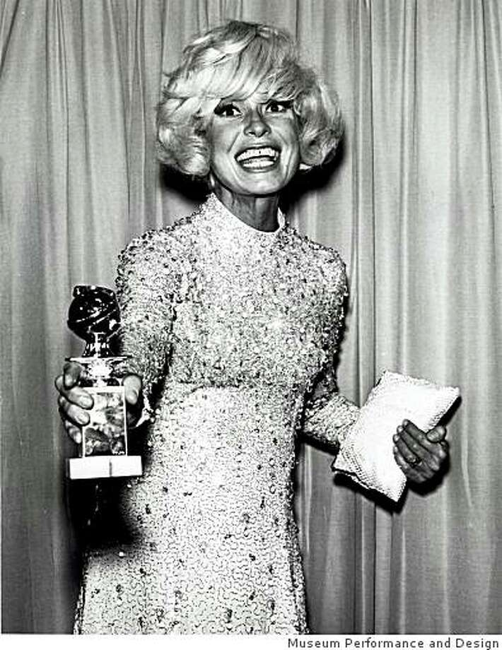 Carol Channing, here with 1968 Golden Globe Award, is being celebrated in an exhibition at San Francisco's Museum of Performance & Design. Photo: Courtesy Mus.Performance & Desig, Museum Performance And Design