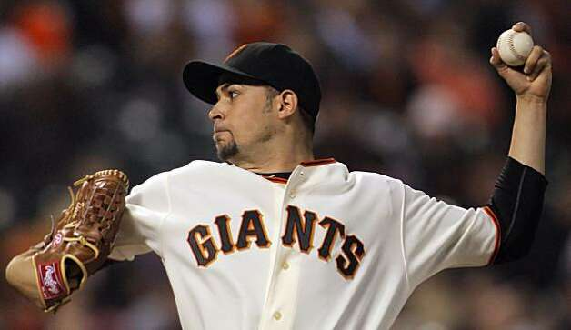 Starting pitcher for the Giants, Jonathan Sanchez struck out 12, a career high. The San Francisco Giants played the Los Angeles Dodgers at AT&T Park in San Francisco, Calif., on Thursday, September 16, 2010, defeating the Dodgers 10-2. Photo: Carlos Avila Gonzalez, The Chronicle