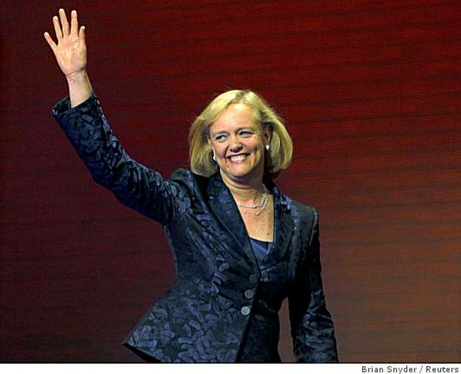 Meg Whitman, the former president and CEO of eBay, arrives to address the third session of the 2008 Republican National Convention in St. Paul, Minnesota, September 3, 2008.   REUTERS/Brian Snyder    (UNITED STATES)   US PRESIDENTIAL ELECTION CAMPAIGN 2008  (USA) Photo: Brian Snyder, Reuters
