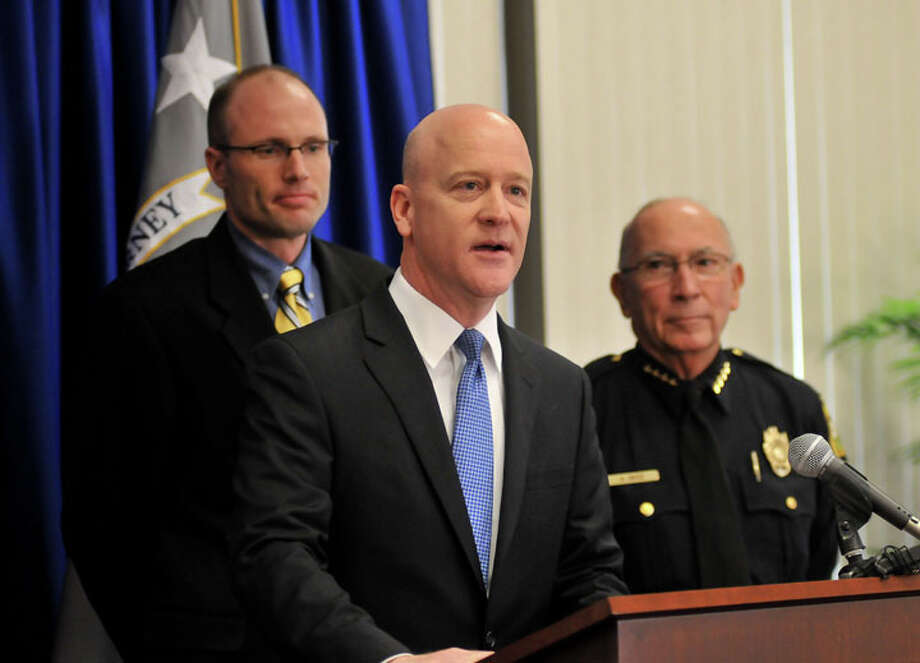 Robert Pitman (center) was appointed U.S. attorney of the Western District of Texas last summer.