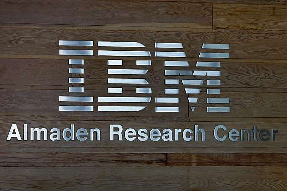 The International Business Machines Corp. ( IBM) logo is displayed in the lobby of the IBM Almaden Research Center campus in San Jose, California, U.S., on Wednesday, July 14, 2010. IBM, the world's biggest computer services company, reported sales that missed analysts' estimates as the falling euro weighed on revenue. Revenue last quarter climbed 2 percent to $23.7 billion. Photographer: Tony Avelar/Bloomberg Photo: Tony Avelar, Bloomberg