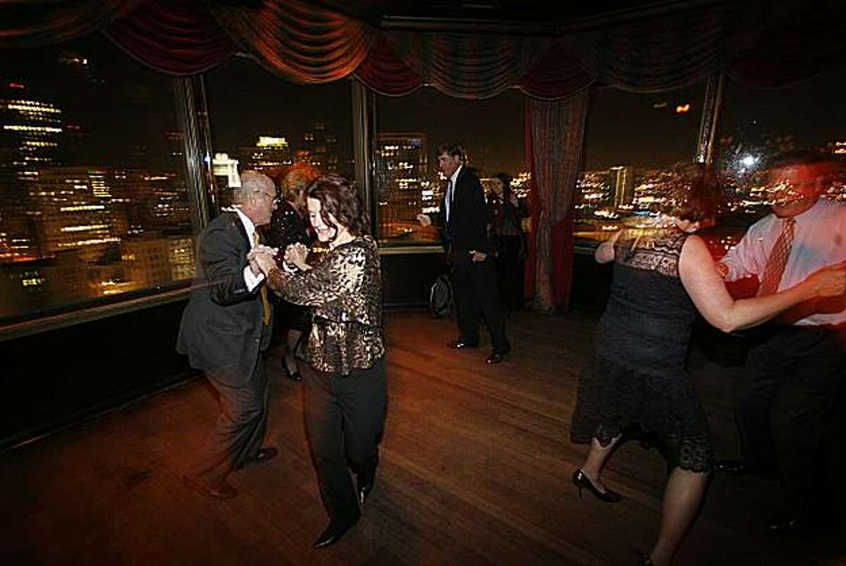 The dance floor at Harry Denton's Starlight Room in the Sir Francis Drake Hotel.