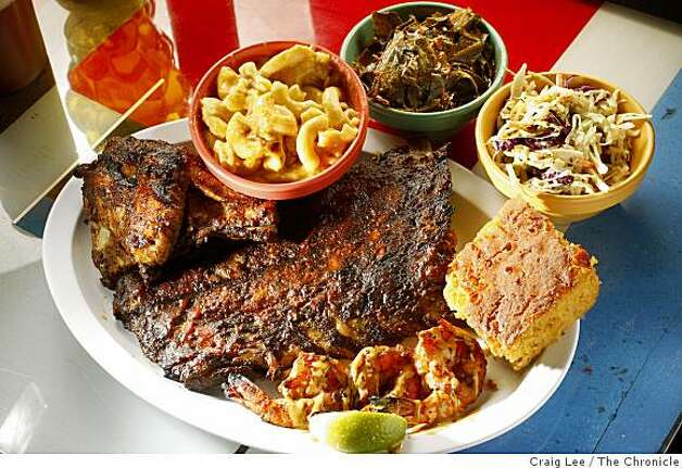 The combo plate at Baby Blues, a BBQ restaurant in San Francisco, Calif., on February 6, 2009. Photo: Craig Lee, The Chronicle