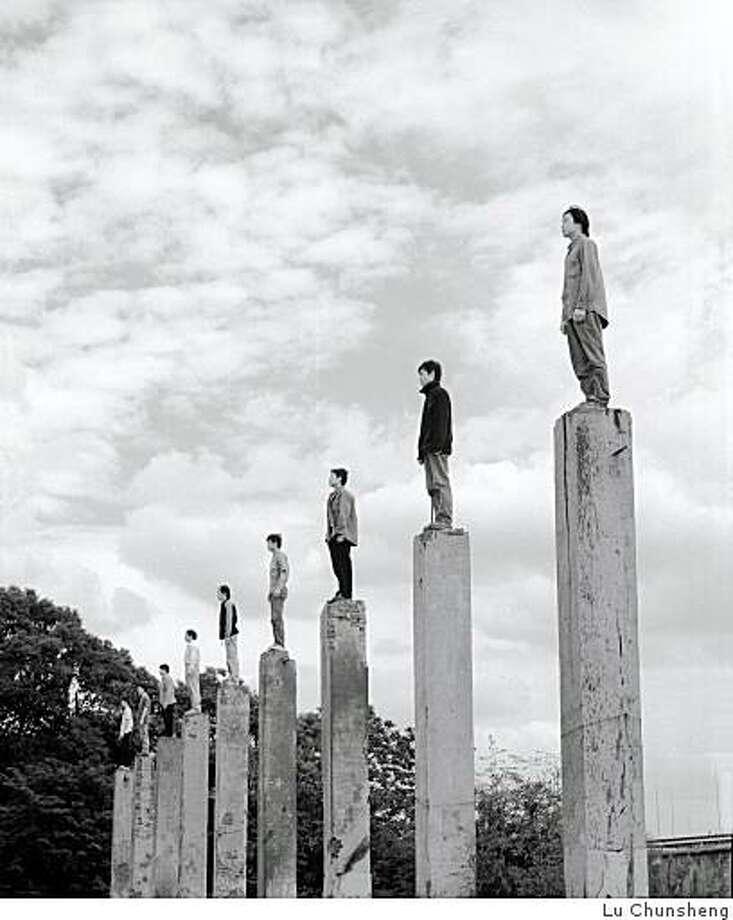 """I want to be a gentleman"", photograph, 70cmx88cm, made in 2000. Photo: Lu Chunsheng"