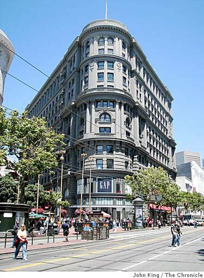 The Flood Building at Powell and Market streets, designed by Albert Pissis, is a San Francisco icon Photo: John King, The Chronicle