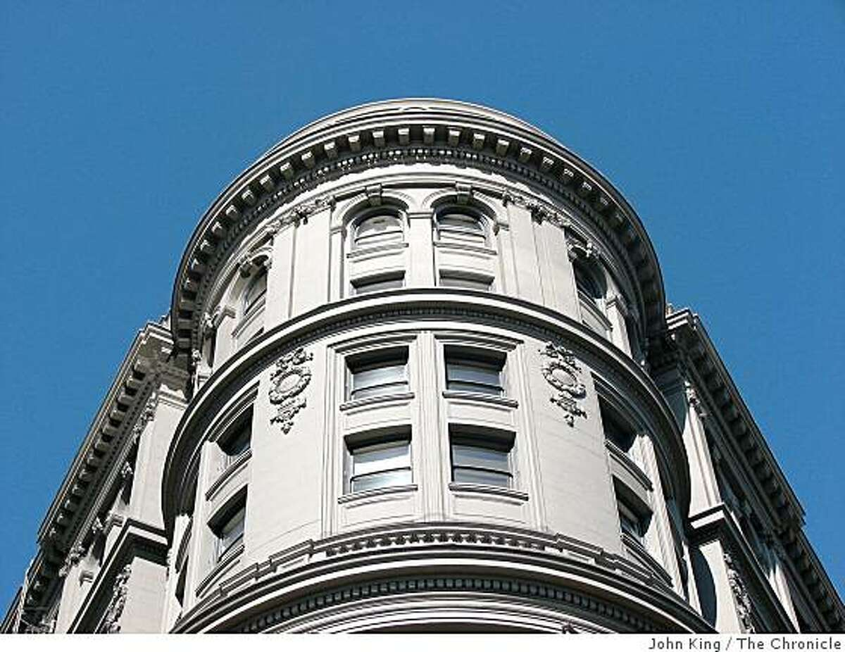 The Flood Building at Powell and Market streets, designed by Albert Pissis, is a San Francisco icon